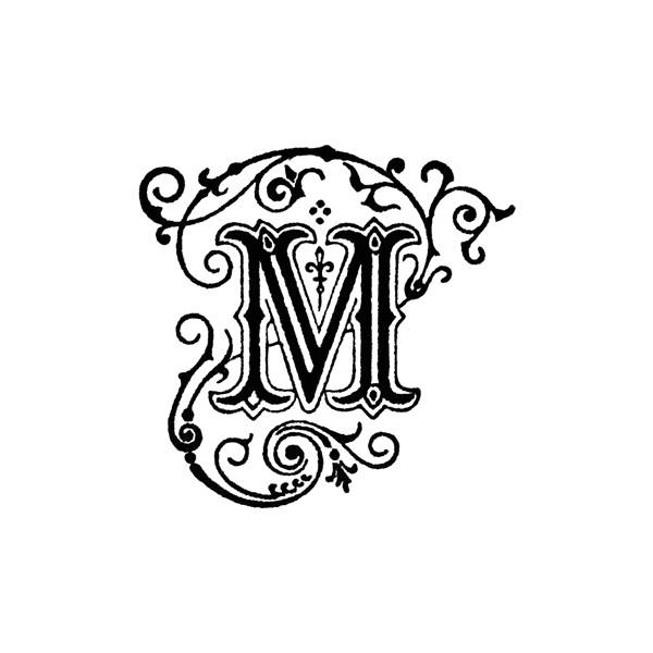 Lettering clipart decorative letter m Polyvore M Decorative on found