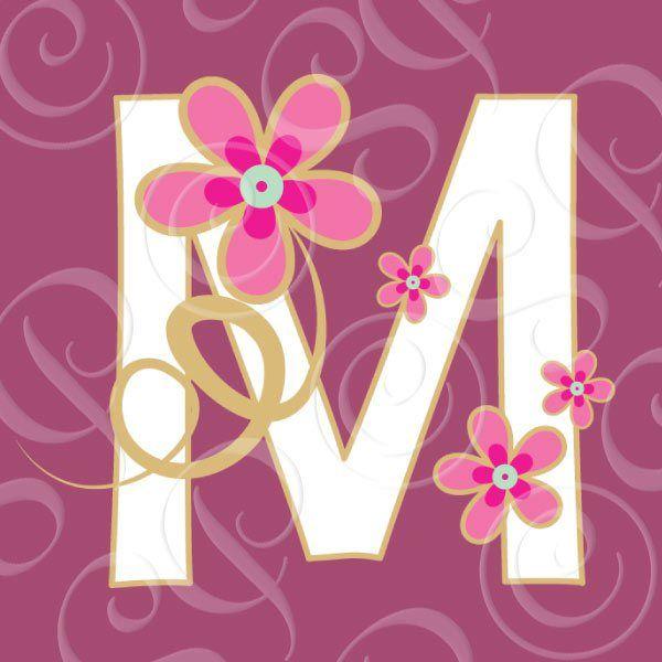 Lettering clipart decorative letter m About Alphabet Decorative images Mary