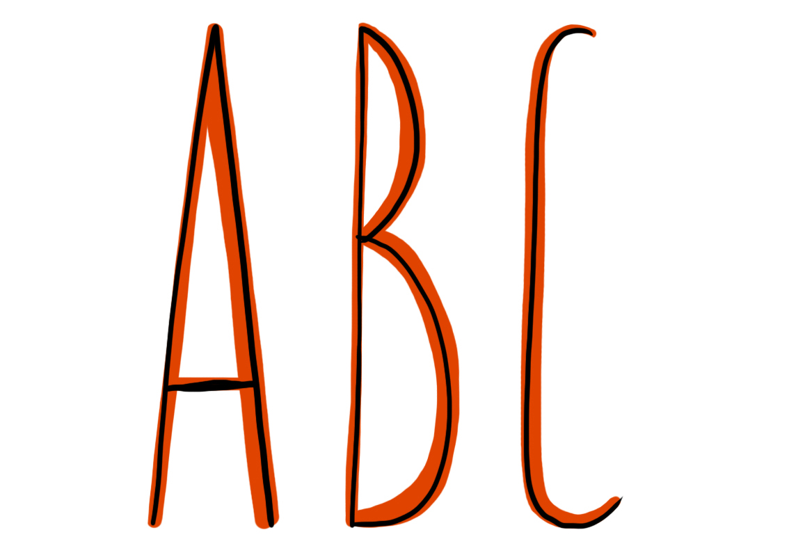 Lettering clipart easy How Draw Its easy 6