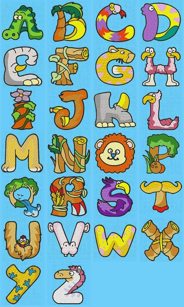 Lettering clipart embroidery Their great wall letters using
