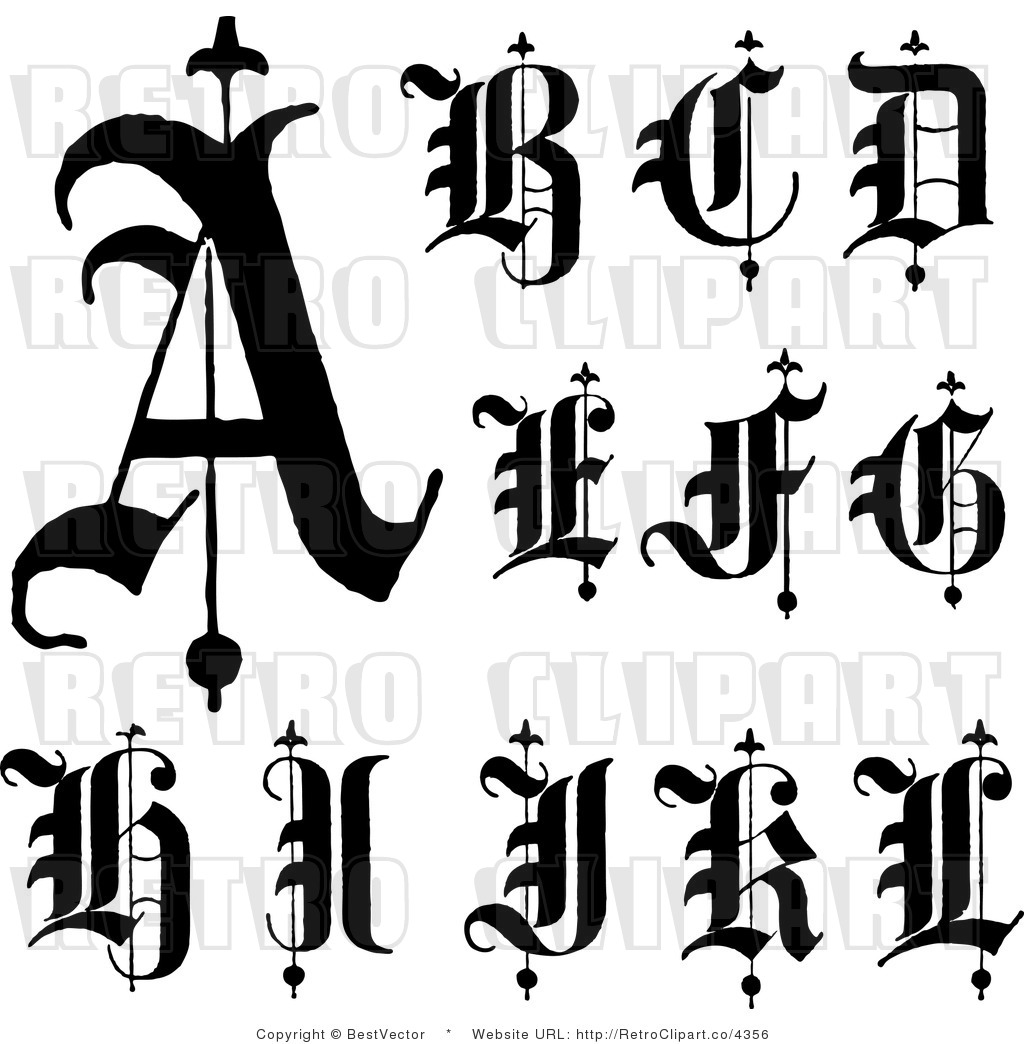 Old Letter clipart black and white Clipart Old cliparts Letters Letters