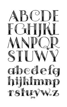 Lettering clipart font Samuel 1960 by shaded