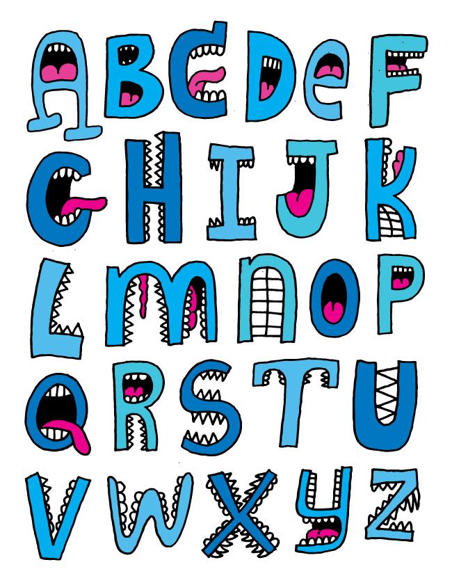 Lettering clipart font Alpha fat mouths · alpha5