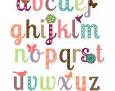 Lettering clipart girly Girly Cute Bing Images Pinterest