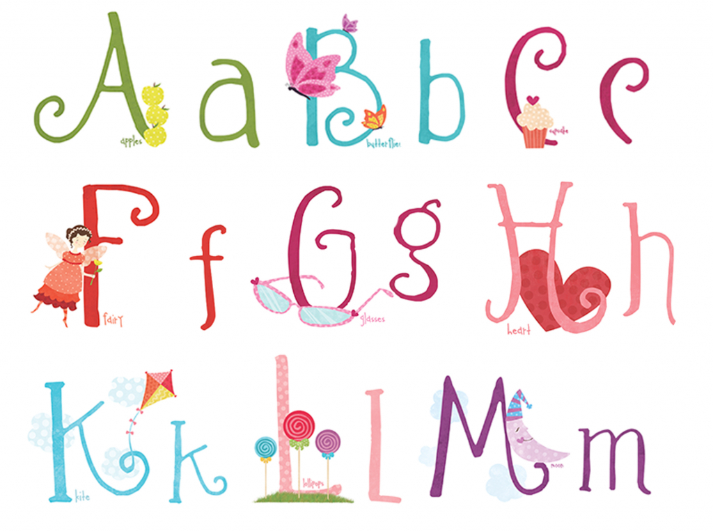 Lettering clipart girly Design  font Letter bubble