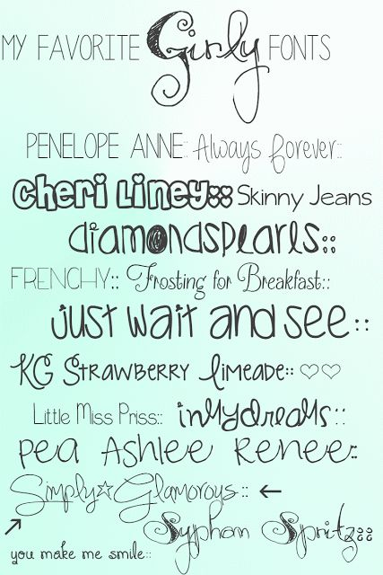 Lettering clipart girly Images Just Favorite on Fonts::