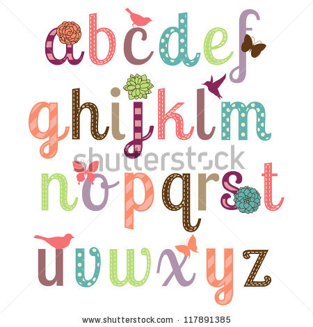 Lettering clipart girly Letters Explore Fonts in Alphabet