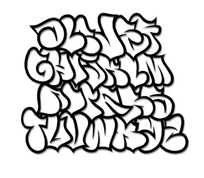 Lettering clipart graffiti Art Abjad Font Clip Art
