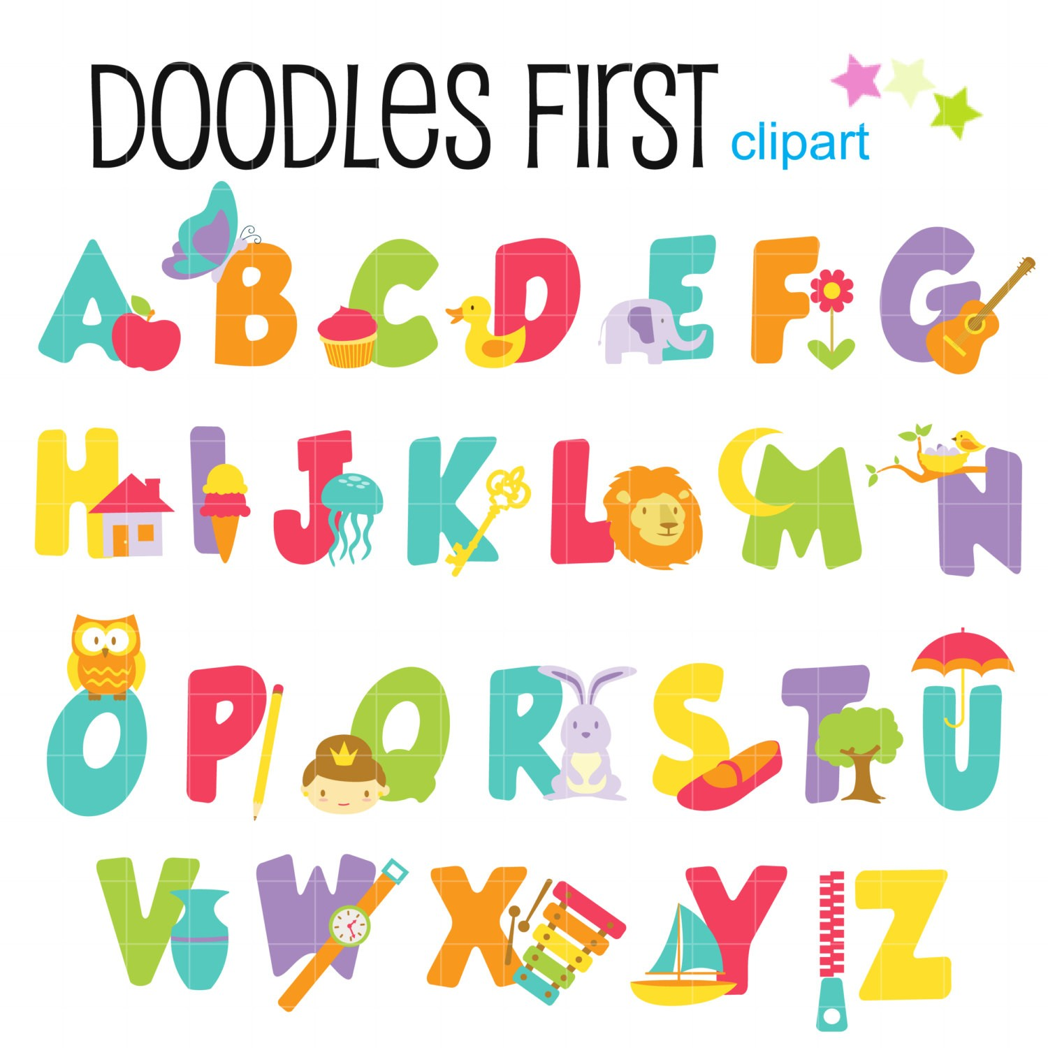 Baby clipart alphabet Letter clipart collection image letters