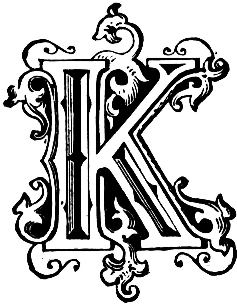 Lettering clipart letter k Of on K K Find