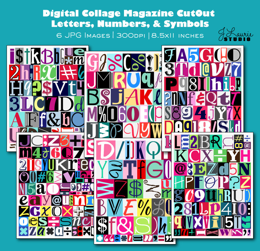 Lettering clipart magazine cutout Letters This a  Printable