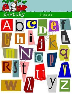 Lettering clipart magazine cutout On Magazine Letters TeachersNotebook Alphabet
