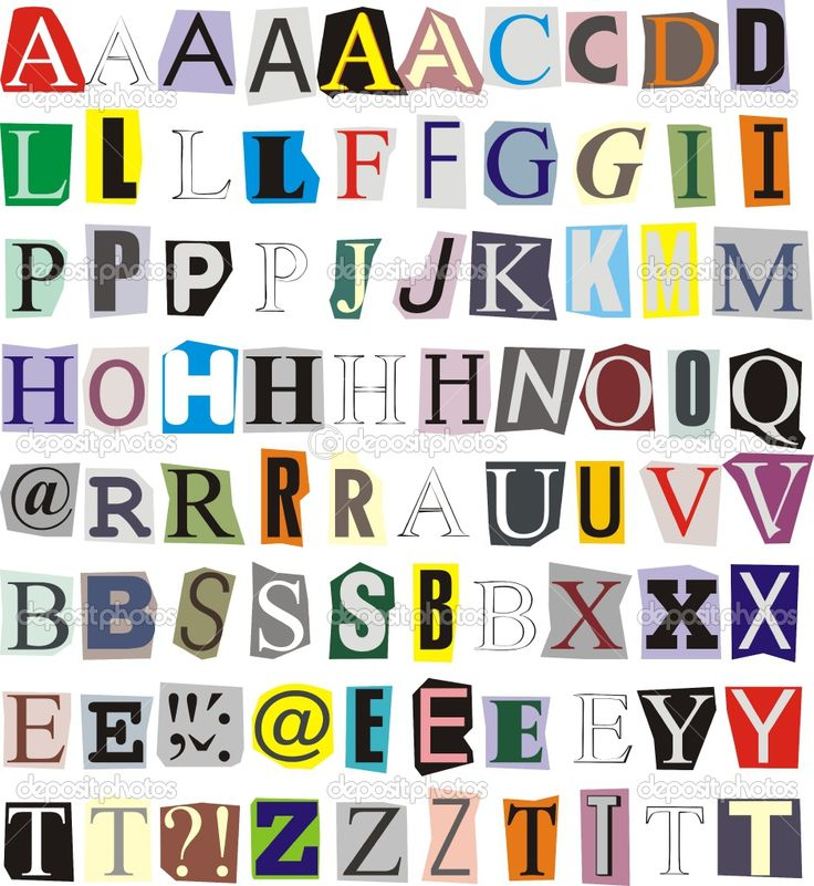 Lettering clipart magazine cutout On Find Pin Pinterest best