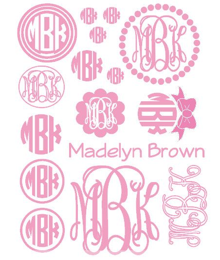 Lettering clipart monogram Fonts for Monogram Jwn 25+
