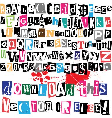 Lettering clipart ransom Note on SymbolsVectorsFontsNumbersFree vector as