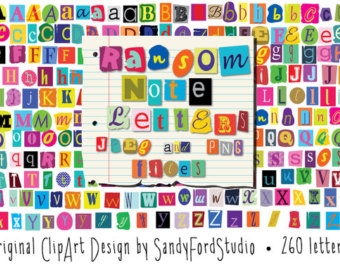 Lettering clipart ransom Note A png Download files