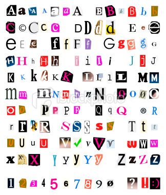 Lettering clipart ransom Note magazines torn and •