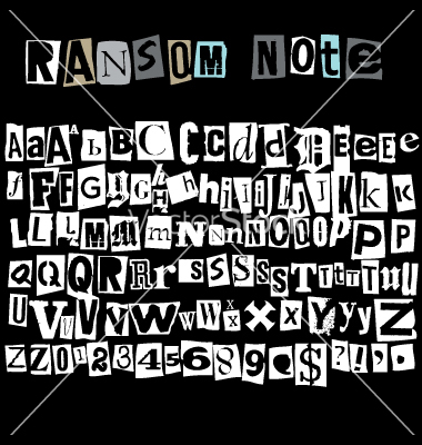 Lettering clipart ransom Ransom note by ransom Robot