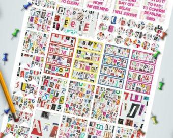 Lettering clipart ransom Notes alphabets agenda letters art