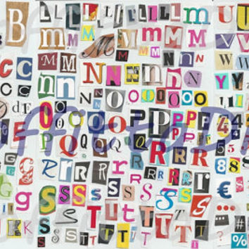 Lettering clipart ransom Letters on teacher number stickers