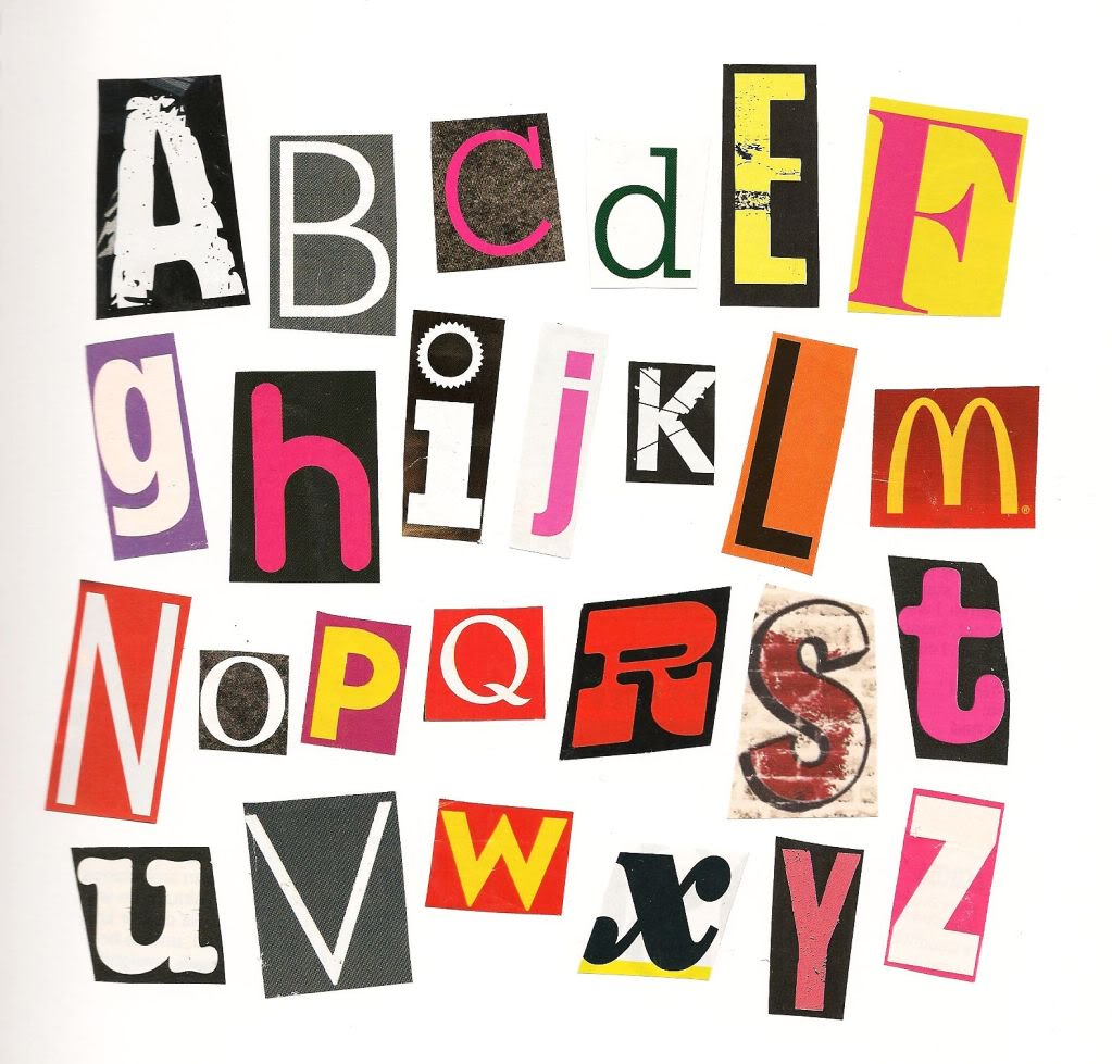 Lettering clipart ransom – search A Google Magazine