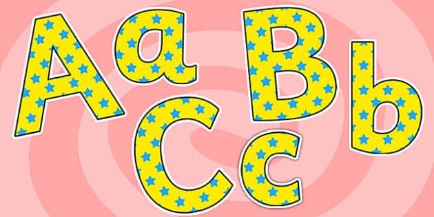 Lettering clipart small Display  Small Yellow stars