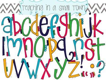 Lettering clipart small Petals Alphabet Alphabet Flower Clip
