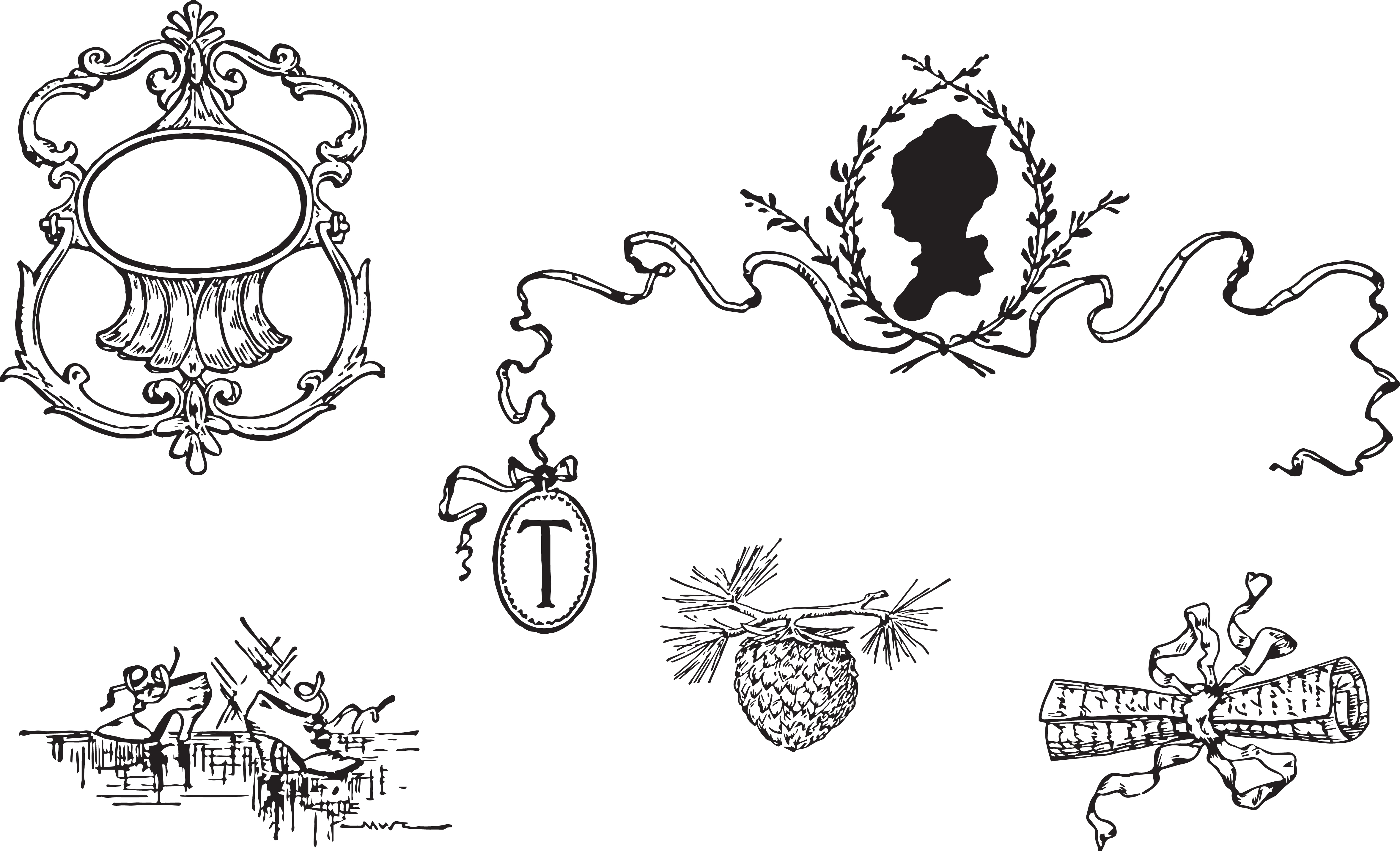 Lettering clipart victorian JPG Decorative Free Clipart