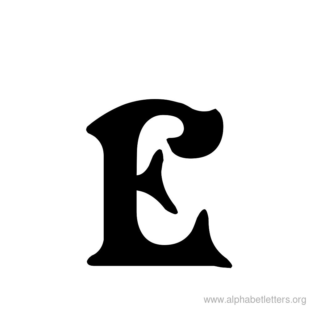 Lettering clipart victorian Letter Printable E Letters Victorian