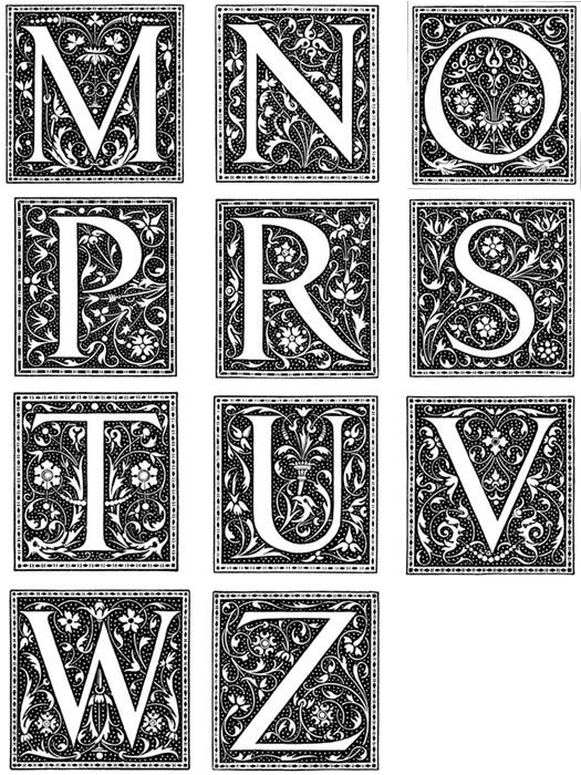 Lettering clipart victorian Victorian Ornamental Pinterest clip letters