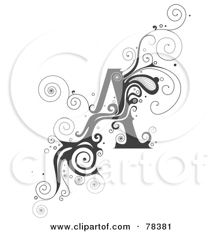 Lettering clipart vine BNP by Alphabet (RF) of