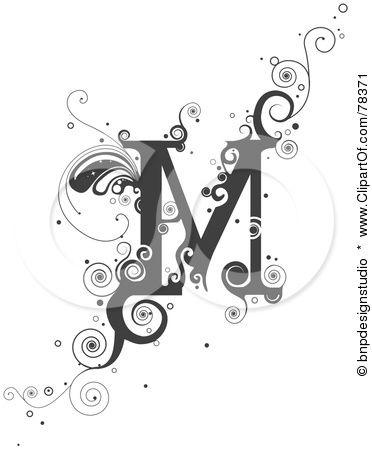 Lettering clipart vine Illustration Clipart Letter about M