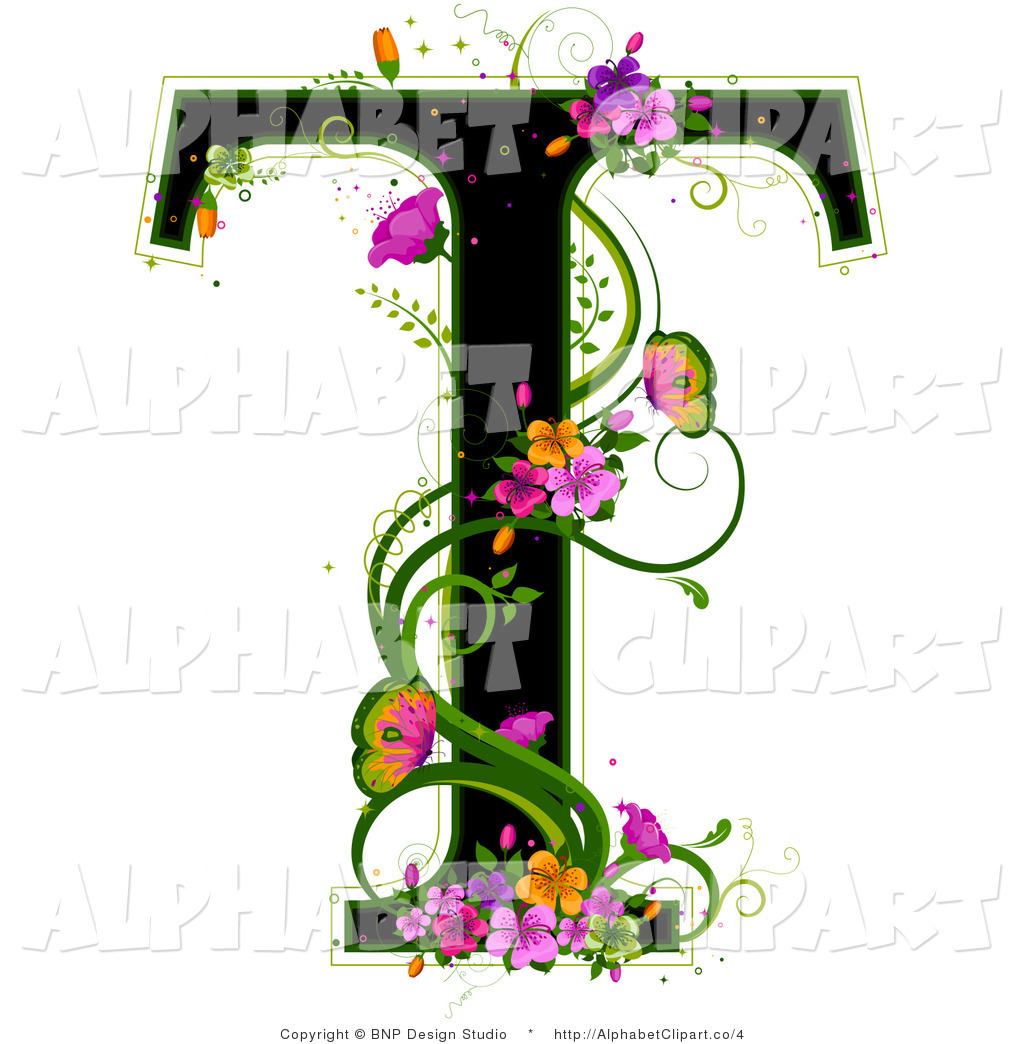 Lettering clipart vine Illustration Vine a Black T