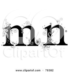 Lettering clipart vine And M Alphabet (RF) of