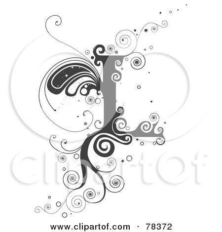 Lettering clipart vine L Letter slova Alphabet best
