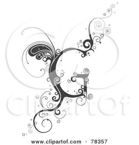 Lettering clipart vine BNP by Alphabet images of