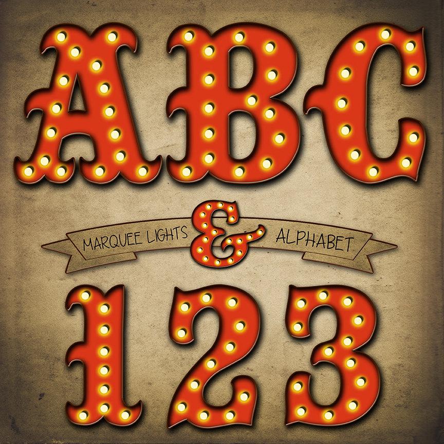 Number clipart printable Alphabet Lights Lights Old Clipart