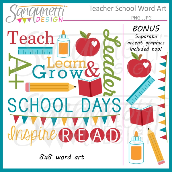 Word clipart teacher Use Art commercial Word and