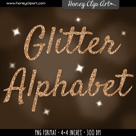 Lettering clipart writing letter Glitter font clip alphabet letters