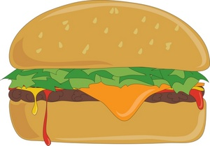 Burger clipart animation The Cheeseburger  and showing
