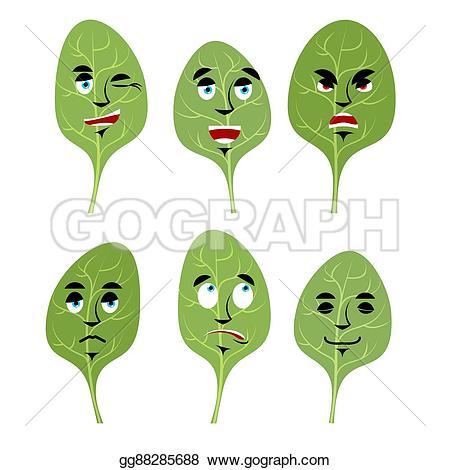 Lettuce clipart face Good face lettuce Emotions discouraged