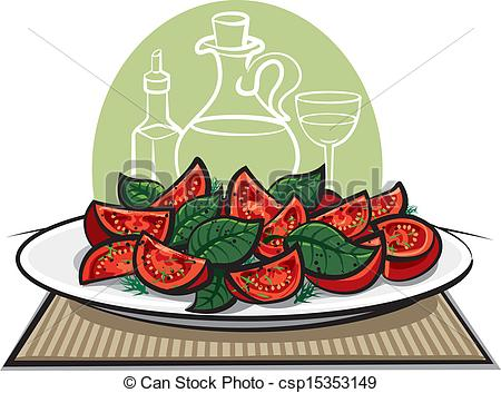 Lettuce clipart tomato salad Vector Vector of EPS tomatoes