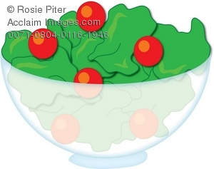 Lettuce clipart tomato salad Of Clipart Salad Bowl Glass