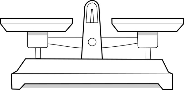 Libra clipart balance beam scale  scale Vector Balance vector