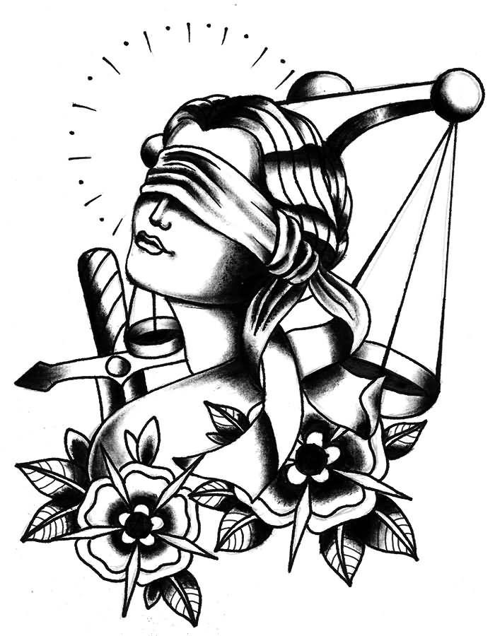 Libra clipart criminal justice Justice Lady ideas 25+ Stencil