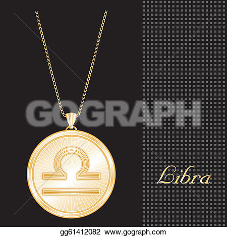 Libra clipart justice symbol  Illustration background design necklace