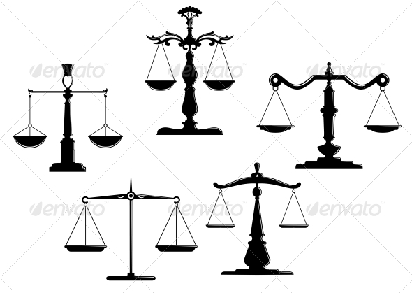 Libra clipart gold TattoosTatoosVector and scales Justice Vector