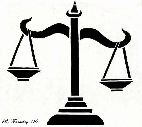 Libra clipart scales justice Of of ~bloodyban tattoo on