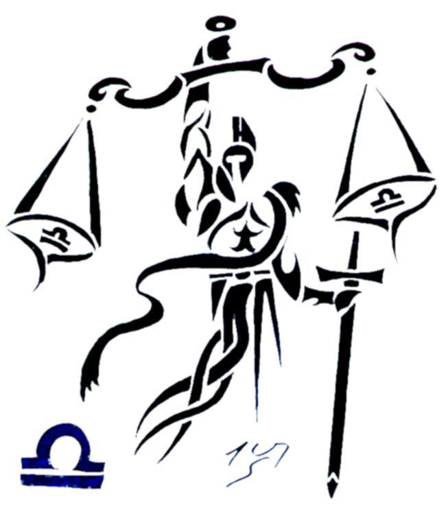 Libra clipart tribal Tribal tribal VII zodiac by
