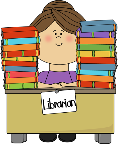 Library clipart At sitting librarian Clip clip